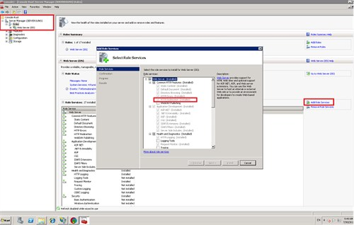 How to enable HTTP Redirect feature in IIS 7